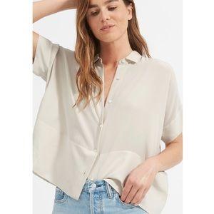Everlane Clean Silk Short Sleeve Square Shirt